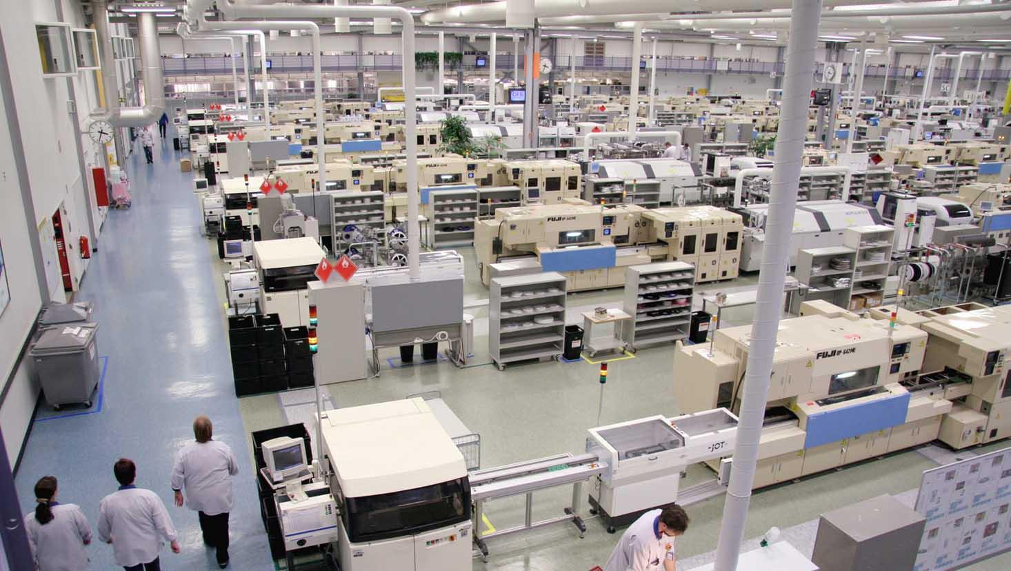 Завод по производству мобильных телефонов